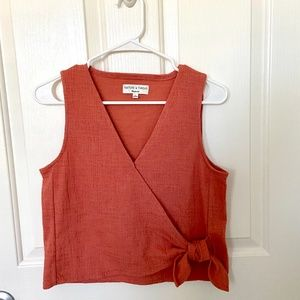Madewell Texture & Thread Wrap-Tie Tank Top Small